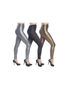 b7d29f191df701 Product Image Isadora Women's 3-Pack Metallic Leggings