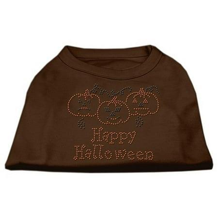 Mirage 52-13-01 SMBR Happy Halloween Rhinestone Dog Shirt Brown Sm (Sm North Halloween 2017)