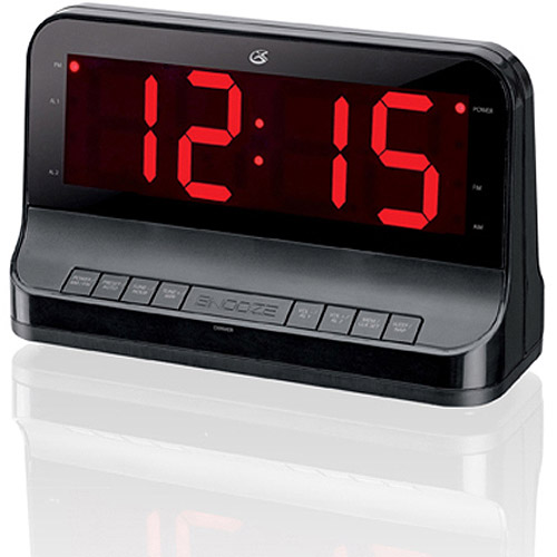 GPX Dual Alarm Digital AM/FM Clock Radio