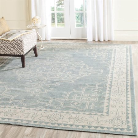 Safavieh Kenya 2' X 3' Hand Knotted Wool Pile Rug in Ivory and Blue - image 3 of 10