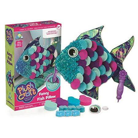 PlushCraft Fancy Fish Pillow Craft Kit: 160 - Candlewicking Pillow Kit