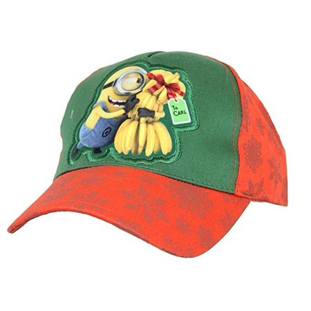 Despicable Me Minions Youth Minion Hugging Gift of a Bannana Bunch Baseball Hat