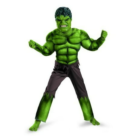 Hulk Tutu Costume (Hulk Avengers Classic Boys Child Halloween Costume, One Size, L)