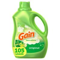 Gain Liquid Fabric Softener, Original, 90 fl oz 105 Loads