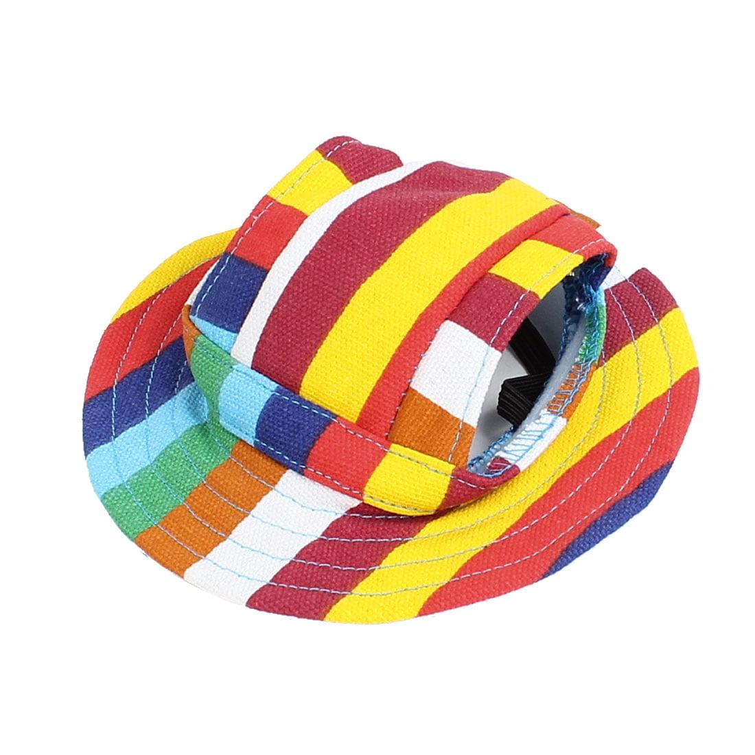 Round Brim Elastic Chin Strap Pet Dog Poodle Fedora Cap Visor Hat ... a0b01872eb9