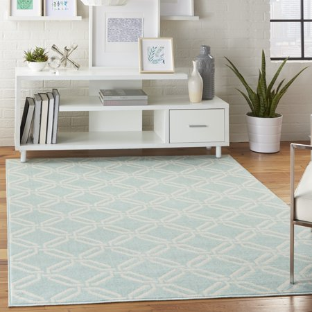 Mid-century Trellis Green Area Rug by Bellamy Studios ()