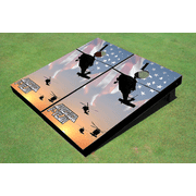 Black Hawk Themed Cornhole Boards