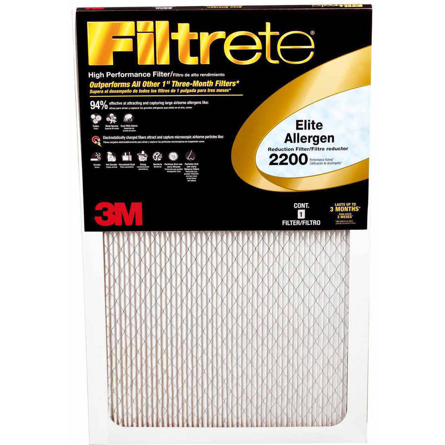 Best furnace air filters for allergies - Filtrete 2200 Elite Allergen Reduction Air And Furnace Filter Available In Multiple Sizes 1pk Walmart Com