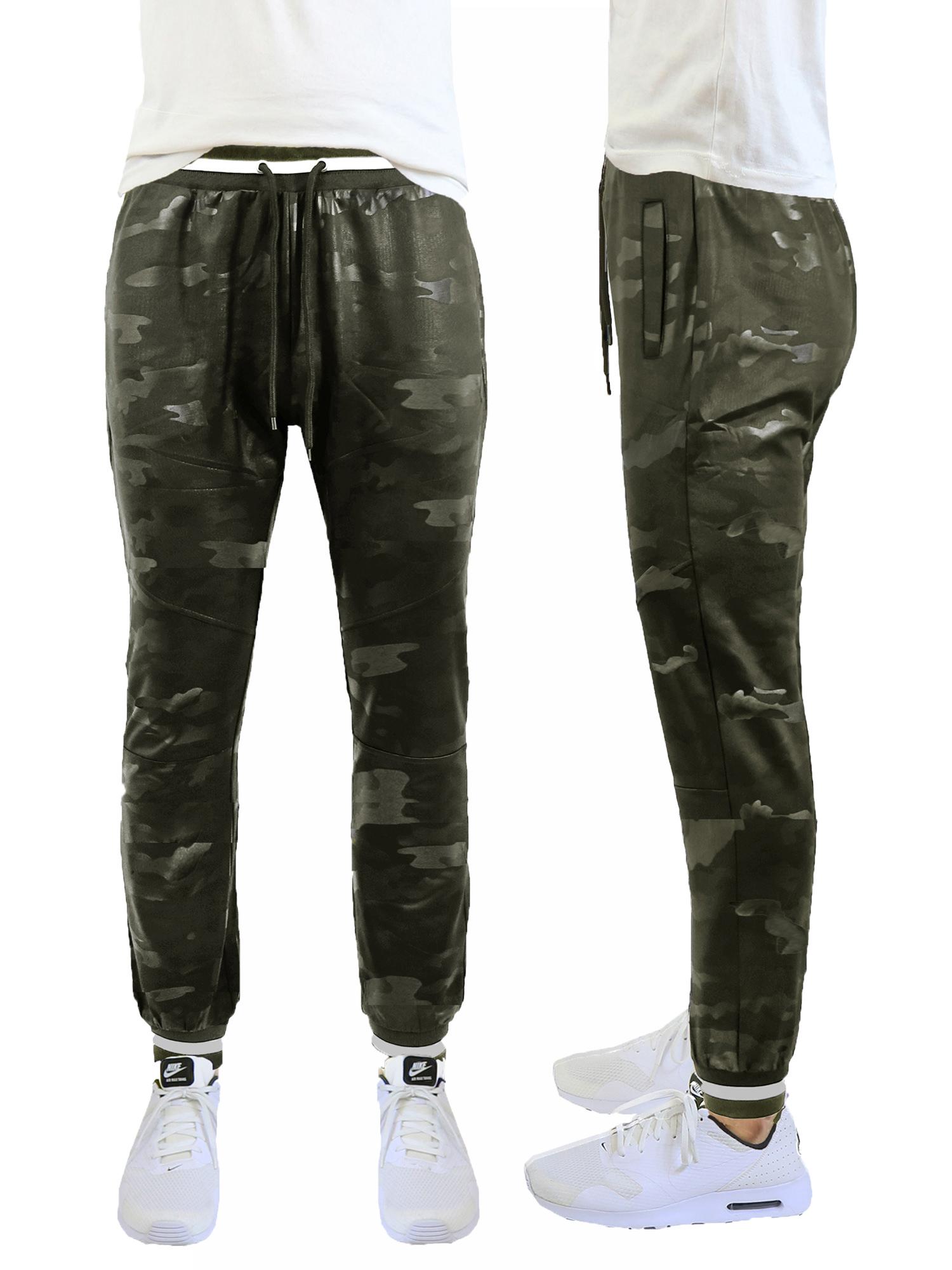Men's Slim-Fit Camouflage Tech Stretch Jogger Pants