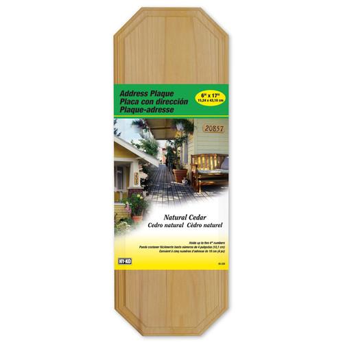 Hy-Ko Cedar Address Plaque (Set of 3) by Hy-Ko