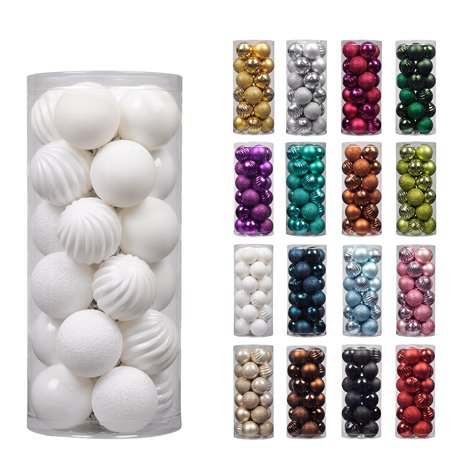 ki store 24ct christmas ball ornaments shatterproof christmas decorations tree balls pastel for holiday wedding party