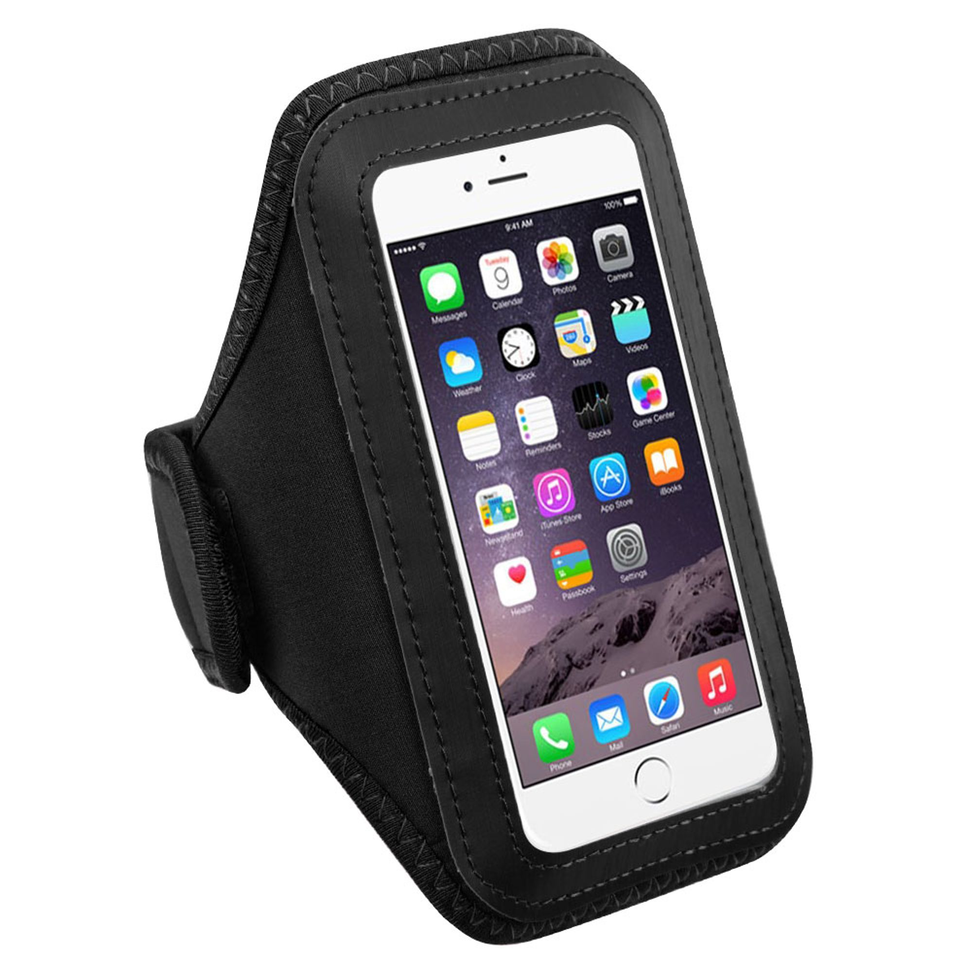 pretty nice aa117 2ee0a Armband For Iphone 7 Plus, Armband For Iphone 8 Plus by MyBat Black Sports  Running Gym Exercise Workout Phone Holder Case for Apple iPhone 8 7 Plus 6S  ...