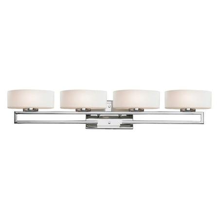 Opal Bathroom Shade - Z-Lite 3011-4V Cetynia 4-Light Bathroom Vanity Light with Matte Opal Glass Shade