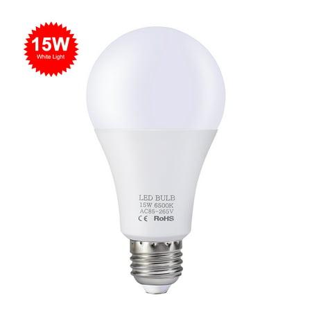 15W LED Bulbs E27 Light Bulbs Energy Saving White Light 6000-6500K High Brightness Lamp for Bedroom Living Room 85V-265V 15w Energy Saving Bulb