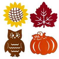 DDI 2339975 15 x 17 in. Harvest Felt Hanging Decor with Glitter, Assorted Color - Case of 36