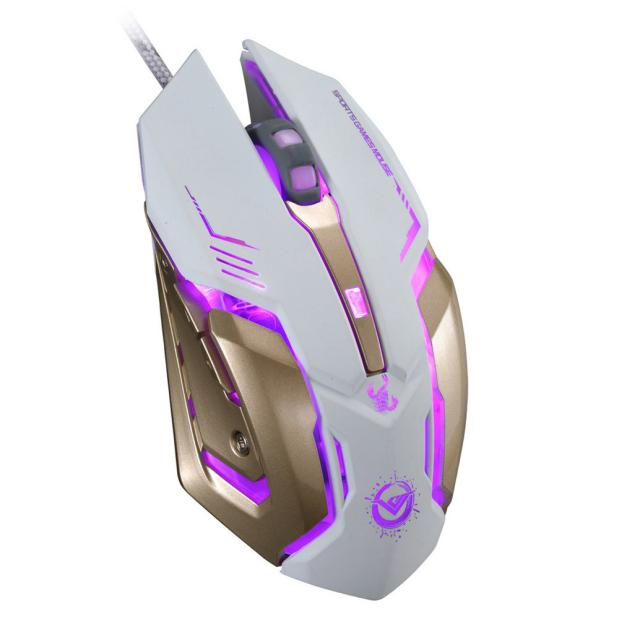 3500 DPI 6 Button Optical Custom Macros USB Wired Gaming Steel Mouse Mice BK