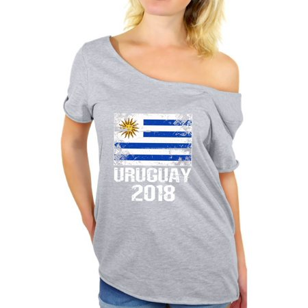 Awkward Styles - Awkward Styles Uruguay 2018 Off Shoulder T Shirt Tops  Uruguayans Flag Shirts for Women Uruguay Football Shirt Uruguay Soccer Shirt  Gifts ... 2d048bbf9