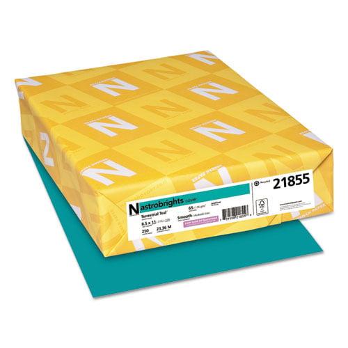 Astrobrights Color Cardstock, 65lb, 8 1/2 x 11, Terrestrial Teal, 250 Sheets