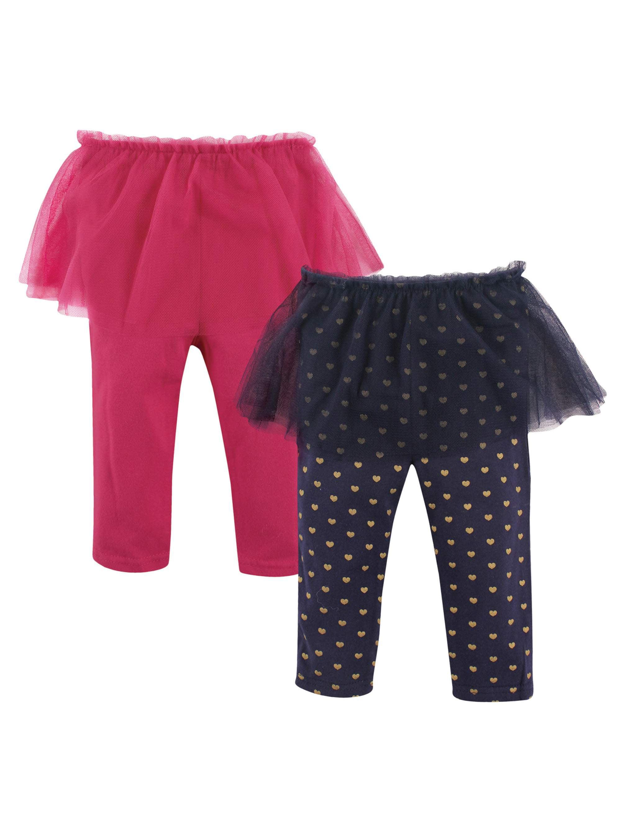 Girl Tutu Leggings, 2-pack