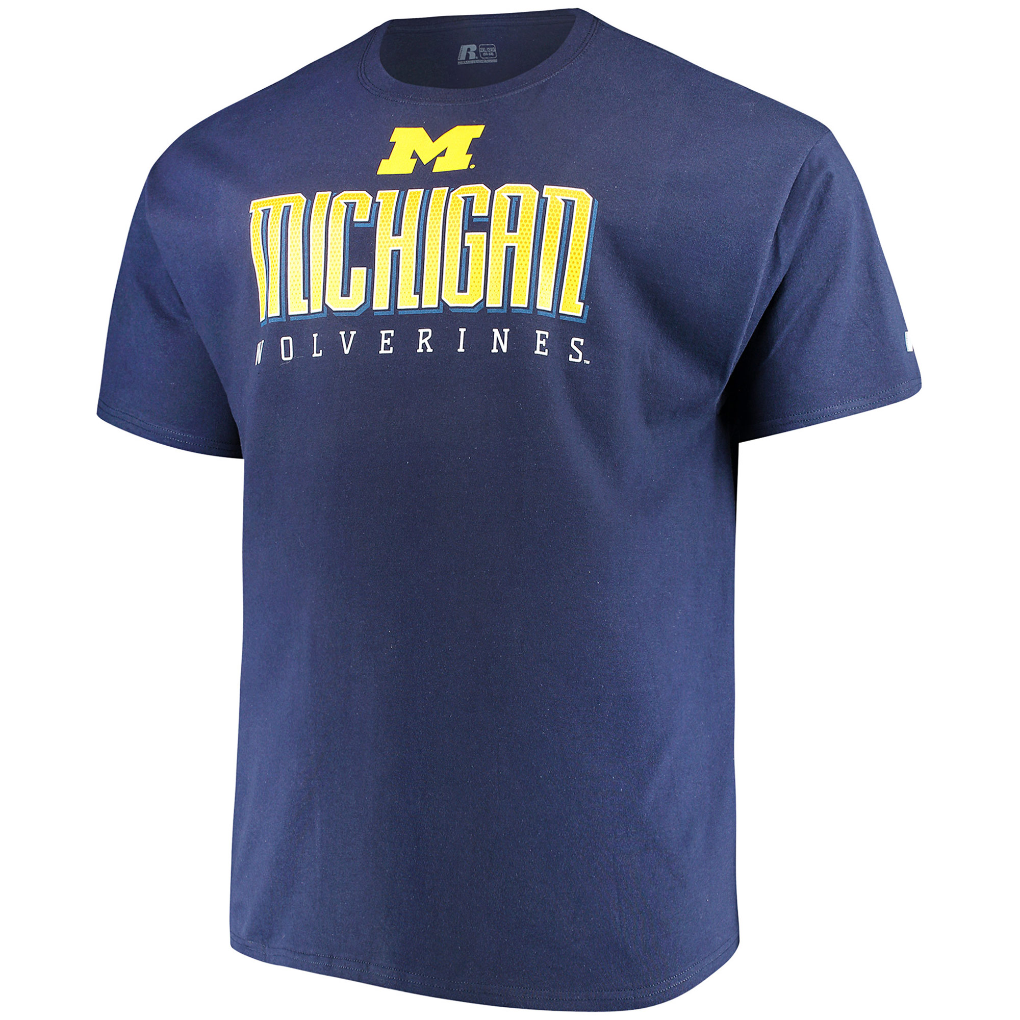 Men's Russell Navy Michigan Wolverines Hokies Big & Tall Classic T-Shirt