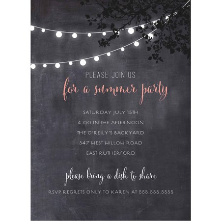 Summer Lights Standard Party Invite - Graduation Party Invite