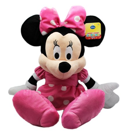 Disney's Minnie Mouse Large Pink Bow and Dress Plush Toy (17in)](Minnie Mouse With Light Up Bow)
