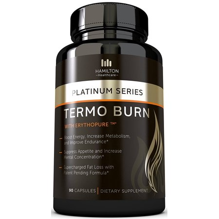 Thermogenic Fat Burner 90 Capsules With Patent Pending Formula  100  Natural And Unique Formula With Proven Ingredients   Burn Fat  Boost Energy  And Increase Focus By Hamilton Healthcare