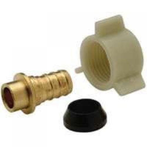 Zurn Pex QQSFC45GXNPK1 1-Inch Swivel X 1-Inch Barb Low-Lead Female Swivel Adapter