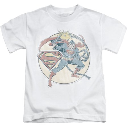 Superman dc comics superhero retro iron on chain break Boys superhero t shirts