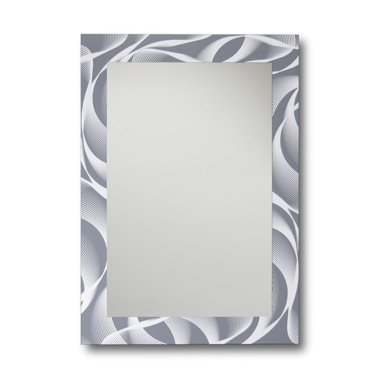 Leick Furniture Gray and White Swirl Decorative Wall Mirror - 18 x 24 in.