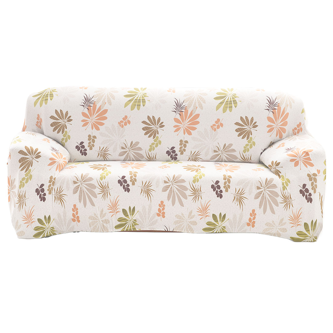 """Unique Bargains 92.5"""" - 118"""" Mult-color Sofa Cover Slipcovers Protector Stretch 4 Seats Flower Pattern"""