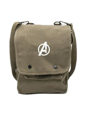 Product Image Marvel Superheroes The Avengers Logo Canvas Military Travel  Map Shoulder Bag eadfa9852c70c
