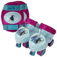 PlayWheels Kids Rollerskate Junior Size 6-12 with Knee Pads