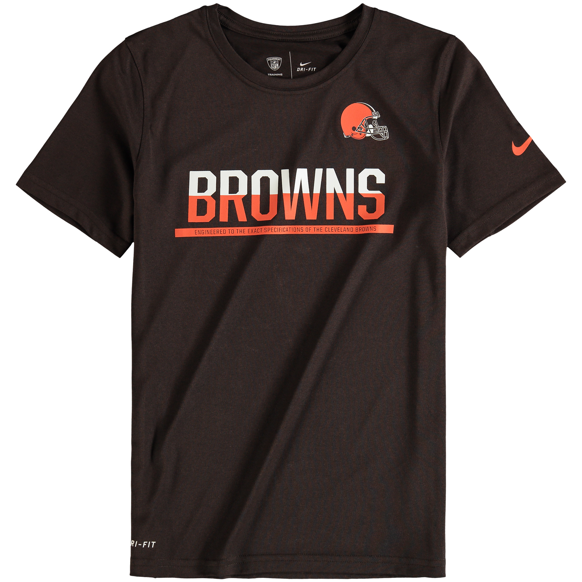 Youth Nike Brown Cleveland Browns Team Practice Performance T-Shirt