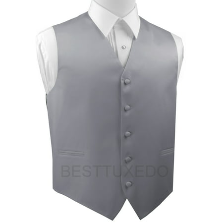 Italian Design, Men's Formal Tuxedo Vest for Prom, Wedding, Cruise , in Silver](Lloyd Tuxedo)