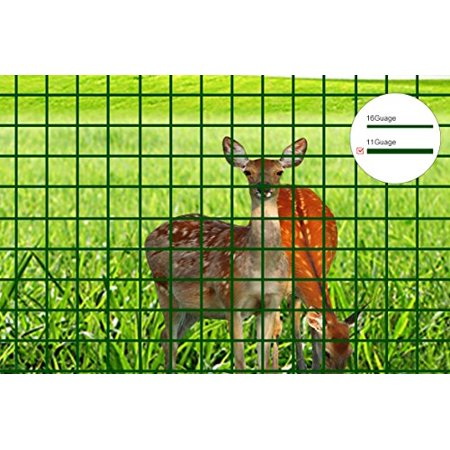 V Protek 11 Gauge 2ft-Hx10ft-L Mesh 2.4 inch Openings PVC Coated Fence Wire Poultry Netting Gutter Guards Chicken Run Rabbit Fencing to Keep Out Racoons Gophor - Halloween Pvc Fence