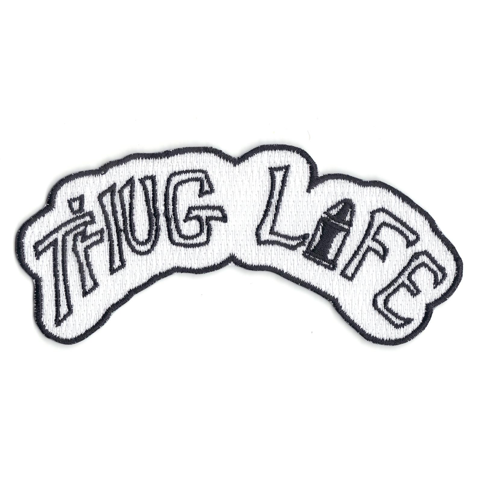 Thug Life Tattoo Iron On Patch