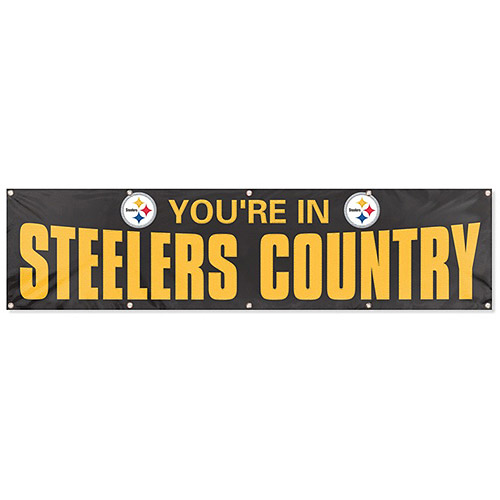 Party Animal Steelers 8' x 2' Banner