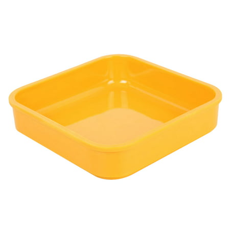 Unique Bargains Kitchen Plastic Square Shaped Fruit Salad Organizer Tray Dish Pot Plate ()