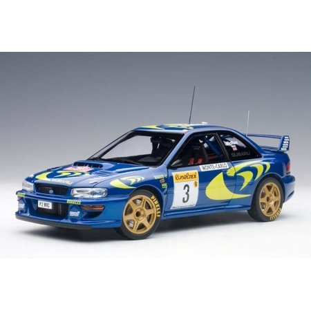 1997 Subaru Impreza WRC #3 Rally Monte Carlo Colin McRae / Nicky Grist 1/18 Diecast Model Car by Autoart