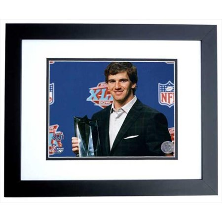 Eli Manning Super Bowl Mvp Trophy Unsigned New York Giants 8X10 Inch Photo Black Custom Frame