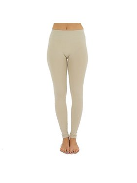 a76a398cc73 Product Image Women s Seamless Full Length Footless Tights Basic Solid  Leggings (Khaki)