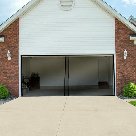 Two Car Garage Door Screen Curtain Black 202 X 90 By Pure Garden