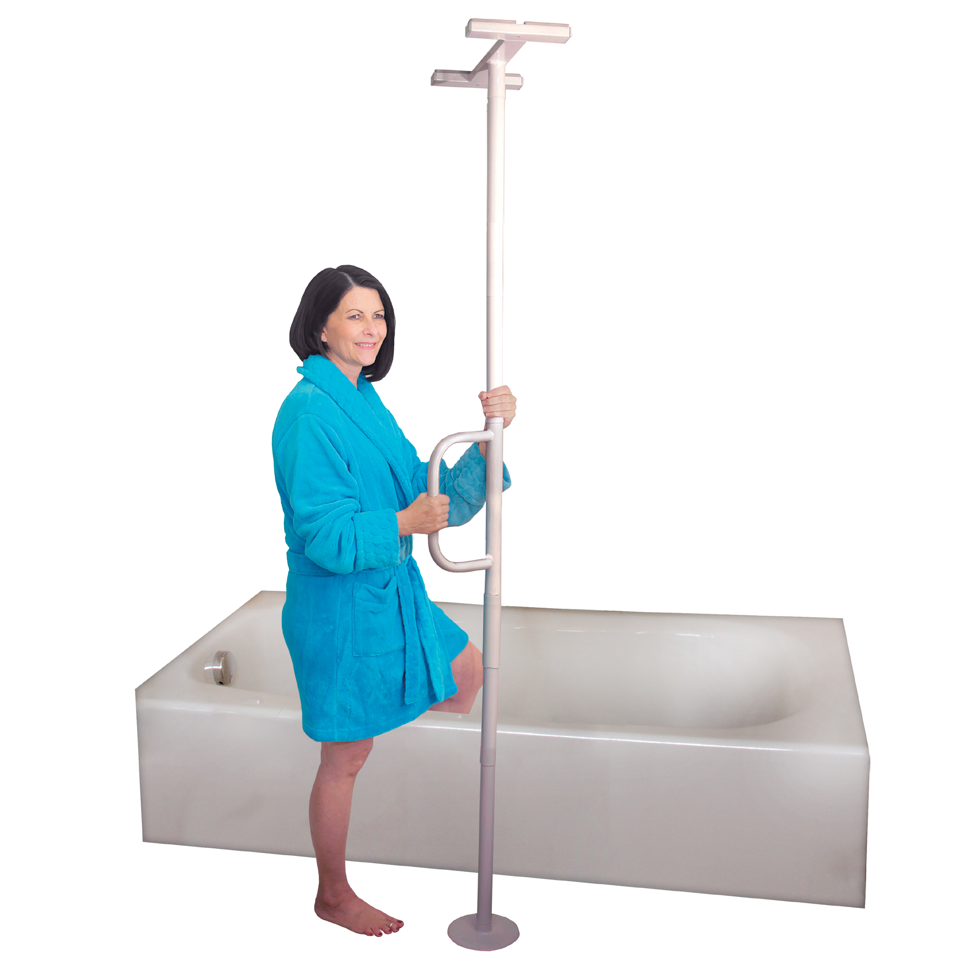Able Life Comfortably Independent Universal Floor to Ceiling Grab Bar