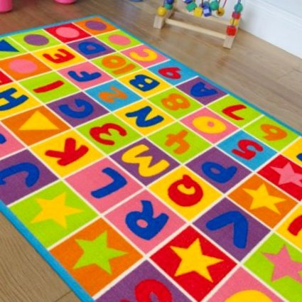 Hr Kids Educational Playtime Rug Letters And Numbers Abc