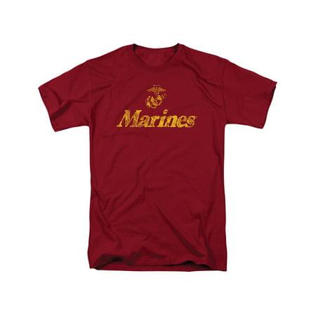 US Marines Military Big Logo T-Shirt, Say It Loud, Say It - Big Marines