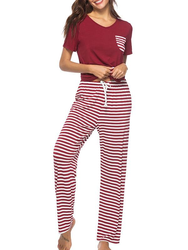 Babula - Babula Women Cotton Striped Sleepwear Pajamas Sets Shirts + Pants  - Walmart.com 8231f1774