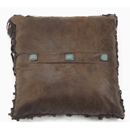 Carstens 3-Turquoise Concho Southwestern Throw Pillow 18