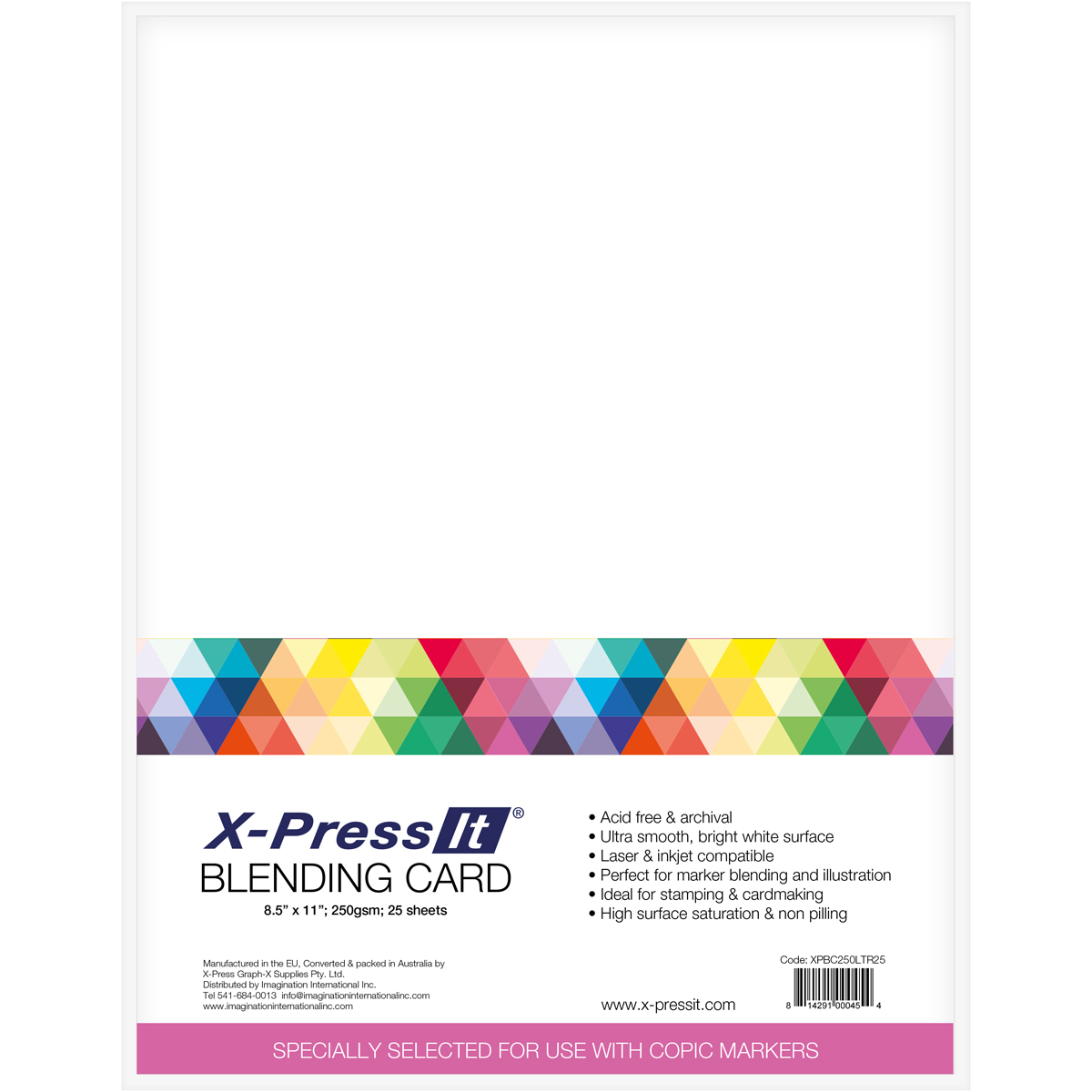 Copic Markers X-Press It Blending Card, 25 Sheets
