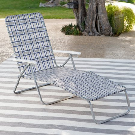Coral Coast Steel Folding Chaise Lounge Chair